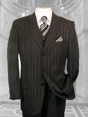 NSW34 JP-56 Liquid Jet Black W/ WHITE PINSTRIPE EXTRA