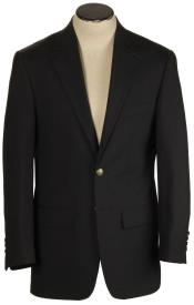 SD205 Hopsack Blazer 100% Tropical Black Wool Classic Atticus