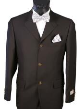 JSM-5406 Mens Single breasted Black Blazer 100% Wool 3