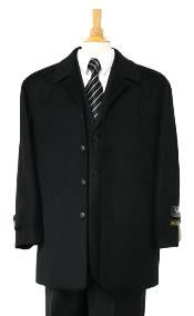 coat Luxurious high-quality Woo&Cashmere half-length notch lapel Jet Liquid