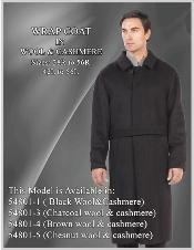 WP009 Wrap Coat in Wool Fabric & Cashmere Liquid