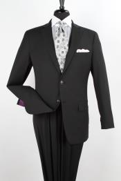 V2C3 2 Piece 100% Wool Fabric Executive Suit -