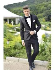 JSM-1059 Mens Velvet Super Fine Lapel Wool Suit Or