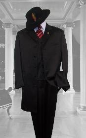 4471 Liquid Jet Black Suit For sale ~ Pachuco