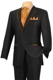 LPA4 Tuxedo Liquid Jet Black Orange ~ Peach Trim