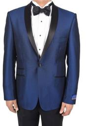 mens Blue 1 Button Tuxedo
