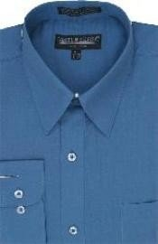 PC354 Denim Blue Dress Shirt