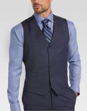 JSM-4841 Men's 5 button besom pocket stylish blue vest