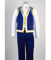 JSM-531 Mens Royal Blue Matching Velvet Pant & Vest