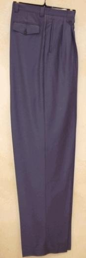 NK516 long rise big leg slacks Blue Wide Leg