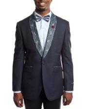 Blue Slim Fit Tuxedo Jacket