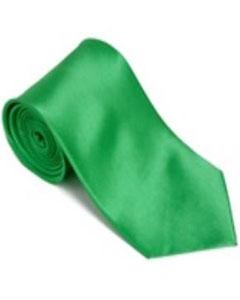 FD227 Brightgreen 100% Silk Solid Necktie With Handkerchief