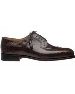 SM748 Ferrini Alligator skin Belly Chocolate Italian Lace Up