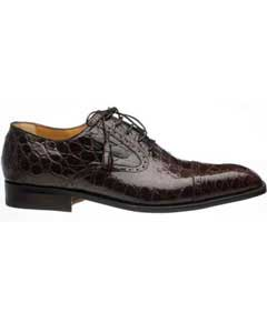 SM754 Ferrini Chocolate Cap Toe Lace Up Italian Style