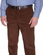JSM-3975 Mens Ralph Lauren Vicuna Corduroy Brown Cotton Flat