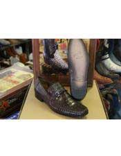 JSM-4944 Mens Genuine Crocodile Los Altos Lizard Style Brown