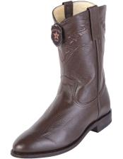 JSM-4115 Mens Los Altos Roper Toe Brown Genuine Elk