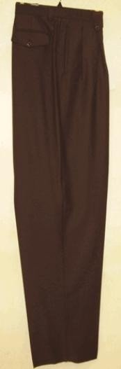 KS400 long rise big leg slacks brown color shade