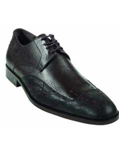 Brown Dress Shoe CatShark Skin