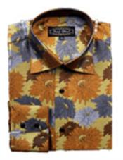 PN-R15 Fancy Shirts brown color shade
