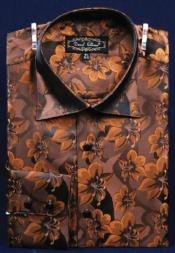 AC-456 Fancy Polyester Dress Fashion Shirt With Button Cuff