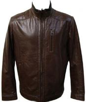 MK856 brown color shade Racing Lamb Leather Jacket Available