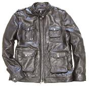 KA7524 Military Field Inspired Lambskin brown color shade Leather