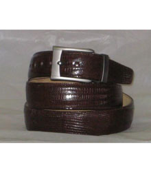 51D Genuine Authentic brown color shade Lizard Belt