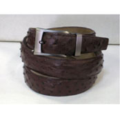 AC-853 Genuine Authentic brown color shade Ostrich Belt