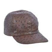 GVS29 Baseball brown color shade Genuine Ostrich Cap