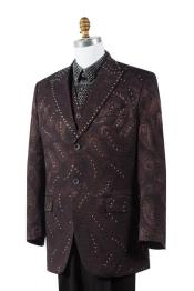 AA462 brown color shade Paisley 3 Piece Fashion Athletic