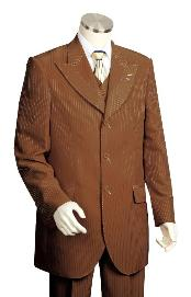 BV7288 3 Piece Vested brown color shade Unique Exclusive