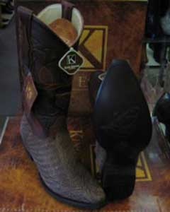MK906 King Exotic Boots Snip Toe Genuine Shark Western