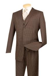 5802V brown color shade With Cream Pinstripe Vested 3