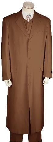 YQ8171 Stylish Long length Zoot Suit brown color shade