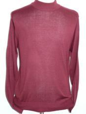 JSM-1147 Mens INSERCH Mock Neck Pullover Knit Sweater High