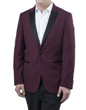 JSM-5396 Mens Two Toned Peak Lapel Regular Fit Two