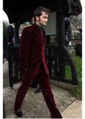 Mens Burgundy Suit Jacket &