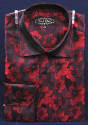 AC-462 Fancy Polyester Dress Fashion Shirt With Button Cuff