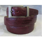 AC-870 Genuine Authentic Burgundy Lizard Belt