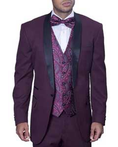 5746 Maroon Burgundy Tuxedo Suit / Tux Wine With