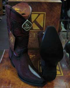 MK945 Genunie Stingray skin King Exotic Boots Snip Toe