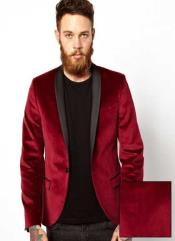 AB34 Dinner Jacket Tuxedo Burgundy & Liquid Jet Black