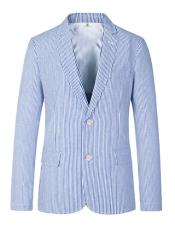 JSM-5109 Mens Two Button Carolina Blue Medium Notch Lapel