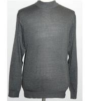 JSM-1142 Mens INSERCH Mock Neck Pullover Charcoal Knit Sweater