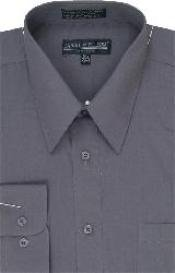Dress Shirt Dark Grey Masculine