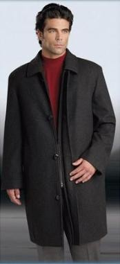 "Car coat 35"" Dark Grey Masculine color Gray four"