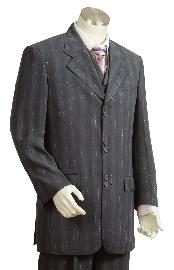 LD9300 Fashion 3 Piece Vested Dark Grey Masculine color