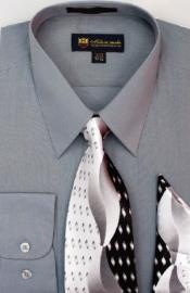 SW904 Milano Moda Classic Cotton Dress Shirt with Ties