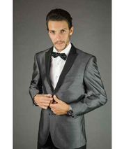 SM141 Dark Grey Masculine color Black and Silver Suit